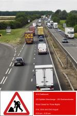 A14 Eastbound J23-J24 Closed for Three Nights