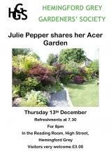 Hemingford Grey Gardeners Society December Talk