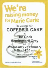 Marie Curie Coffee & Cake Daffodil Appeal