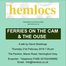 Hemlocs: Ferries on the Cam & the Ouse