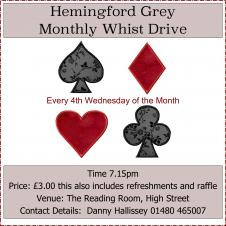 Hemingford Grey Monthly Whist Drive
