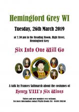 Hemingford Grey WI 'Six Into One Will Go'