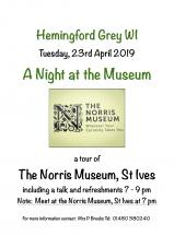 Hemingford Grey WI Present:  ' A Night at the Museum'