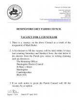 Hemingford Grey Parish Council - Vacancy