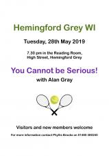 Hemingford Grey WI 'You Cannot be Serious!'