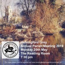 Hemingford Grey Annual Parish Meeting 2019