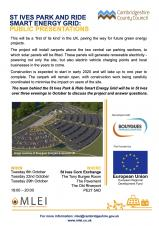 St Ives Park & Ride Smart Energy Grid (Public Presentations)