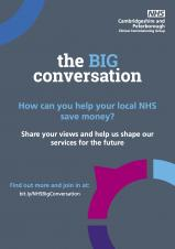 Get involved in the Big Conversation about how we shape our NHS
