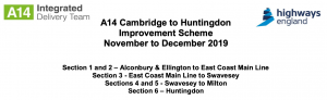 Important Information - A14 Cambridge to Huntingdon Improvement Scheme.