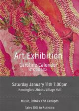 Caroline Calonder - Exhibition of Mixed Media Works