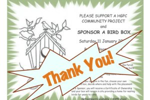 Bird Box Sponsorship - Thank You!