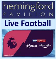 Televised Live Football at the Pavilion - w/c 10thFebruary 2020