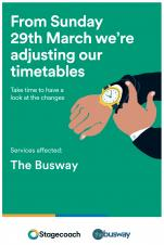 New Busway Timetable from 29th March 2020