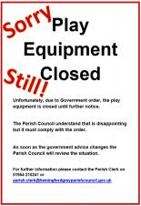 Play Areas & Equipment Remain Closed