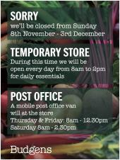 Temporary Closure of Village Store for Refurbishment