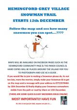 Hemingford Grey Village Snowman Trail